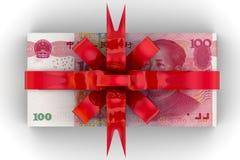 Geld als Geschenk stockfotografie