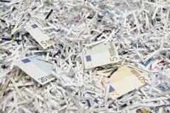 Geld als Papier Stockfoto