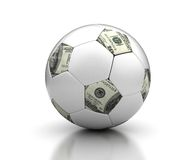 Geld & Voetbal Royalty-vrije Stock Fotografie