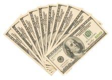 Geld auf dem Weiß Lizenzfreies Stockfoto
