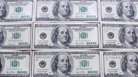 Geld auf der Tabelle stock footage
