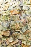 Geld auf der Wand Lizenzfreies Stockfoto