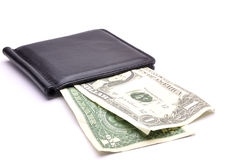 Geld auf einem weißen Hintergrund Stockbilder