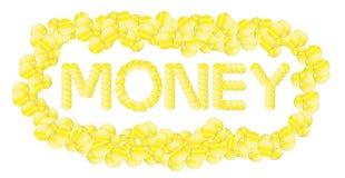 Geld auf einem weißen Hintergrund lizenzfreie abbildung