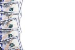 Geld auf einem weißen Hintergrund Stockfoto