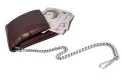 Geld auf einer Kette Stockfotografie