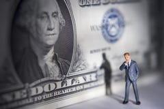 Geld auf Ihrem Verstand? Stockfotografie