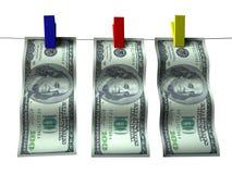 Geld auf Klipps Stockfotografie