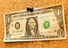 Geld auf Korken Stockbilder