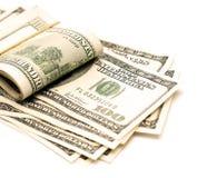 Geld auf Weiß Lizenzfreie Stockfotos