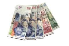 Geld auf Weiß Stockbilder
