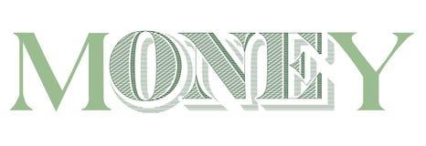 Geld auf weißem bakcground vektor abbildung