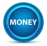 Geld-Augapfel-blauer runder Knopf stock abbildung