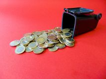 Money out from a Ton. Geld aus der Mülltonne! Money out of a Ton Royalty Free Stock Photo