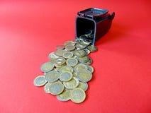 Money out from a Ton. Geld aus der Mülltonne! Money out of a Ton Stock Photos