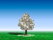 Geld-Baum unter blauem Himmel Lizenzfreie Stockbilder