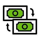 Geld?berweisungsikone Vektor Eps10 lizenzfreies stockfoto