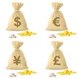 Geld-Beutel lizenzfreie abbildung