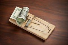 Geld-Blockiergeschäft Stockfoto