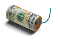 Geld-Bombe lizenzfreie stockfotos