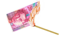Geld-Brand Lizenzfreie Stockfotos