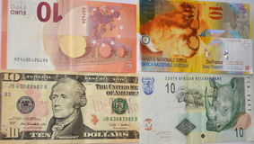 Geld, contant geld, achtergrondmunt Stock Fotografie