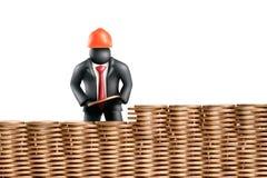 Geld, das 1 aufbaut Stockbilder