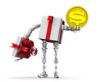 Geld - das beste Geschenk Konzept mit dem US-Dollar vektor abbildung