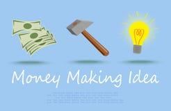 Geld, das Idee bildet Lizenzfreie Stockfotos