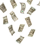 Geld, das von oben fällt Stockfotografie