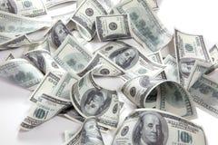 Geld, de achtergrond van 100 Dollars Stock Foto's