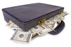 Geld in de boomstam Royalty-vrije Stock Afbeeldingen