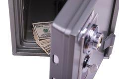 Geld in de brandkast Stock Foto's