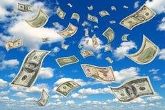 Geld in de hemel. stock foto's