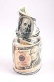 Geld in de kruik Stock Fotografie