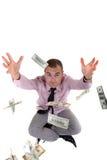 Geld in de lucht royalty-vrije illustratie