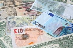 Geld. De munten van de wereld Stock Foto