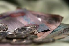 Geld in de portefeuille Royalty-vrije Stock Foto's