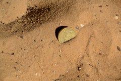 Geld in de woestijn wordt verloren die Royalty-vrije Stock Foto's