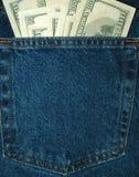Geld in de zak Stock Fotografie