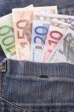 Geld in de zak Stock Foto