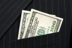 Geld in de zak Stock Afbeelding