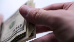 Geld in den Händen stock footage