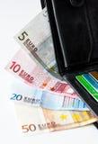 Geld in der Geldbörse Lizenzfreie Stockfotos