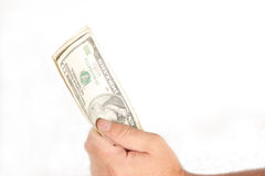 Geld in der Hand Stockfotografie