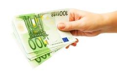 Geld in der Hand Lizenzfreies Stockfoto