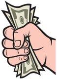 Geld in der Hand lizenzfreie abbildung