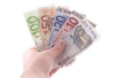 Geld in der Hand Stockfoto