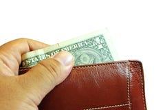 Geld in der Mappe Stockbild