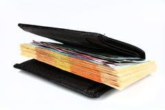 Geld in der Mappe, getrennt Lizenzfreies Stockbild